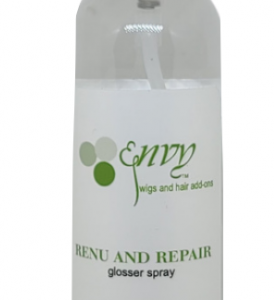 This is a must have to keep your Envy Hair wig looking fresh and new. Also bring new life to your dry ends with this Envy Renu and Repair Glosser Spray. A small dab is more than enough to rejuvenate dry or damp hair. Prevents everyday use from wearing out or damaging the delicate blend of synthetic fibers and human hair in your beautifier blended creation.