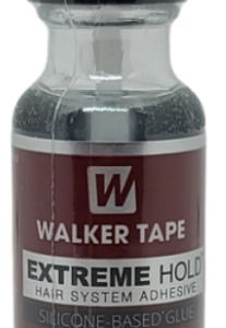 Walker Tape's strongest silicone-based, liquid adhesive yet. This glue is compatable with all hair systems, dries clear, and has a hold that will last 4+ weeks.
